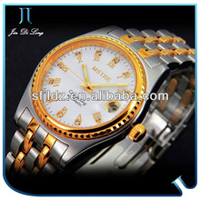 Super Energy Diamond Swiss Movement Gold Watch Calendar