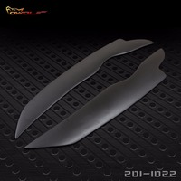 Factory Direct Wholesale Fiber Glass Headlight Cover Eyebrow Eyelid for Mitsubishi Lancer EVO X 10 Outlander 2008 to 2014