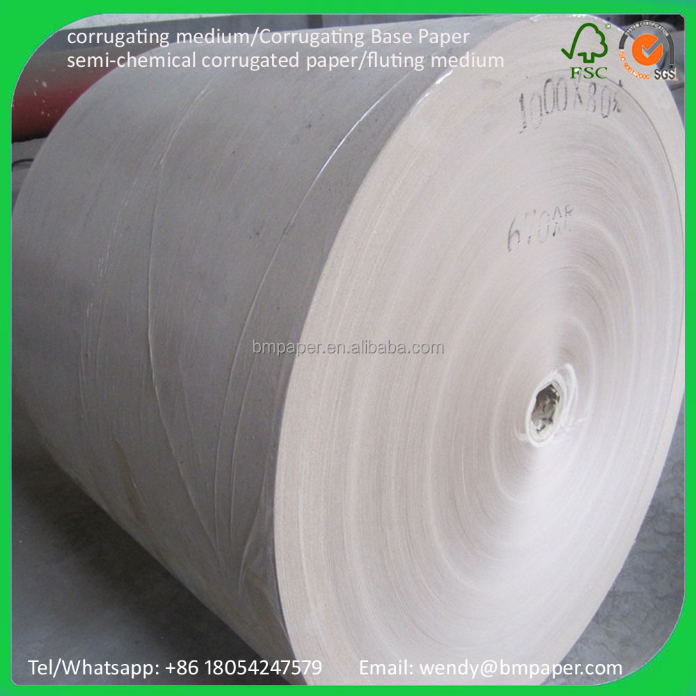50--180GSM Fluting paper/corrugated base paper for carton box making