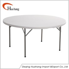 China Factory Economic Plastic Round Table With Folding Leg