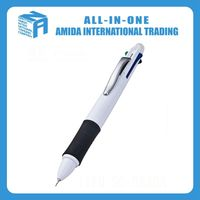 4 color ball pen and pencil automatically