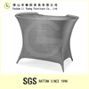 Wicker bar furniture Hot sale with chromed base frame coated by UV high gloss patio rattan outdoor bar table
