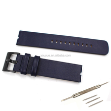 Wholesale Customized Smooth Leather Watch Band Replacement Strap For Motorola Moto 360 Smart Watch