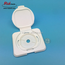 White color PP material wet wipes box flip cap with silicone value