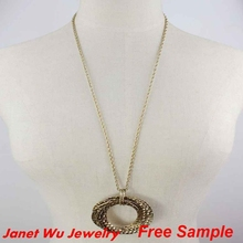 Fashion Women Jewellery Cheap 28 Inch Long Necklaces Circle Necklace