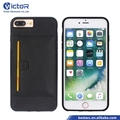 New Product Wallet Phone Flip Case for iPhone 7 Plus with Groove