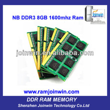 surplus inventory with low price 1600mhz ram 8gb ddr3 sodimm