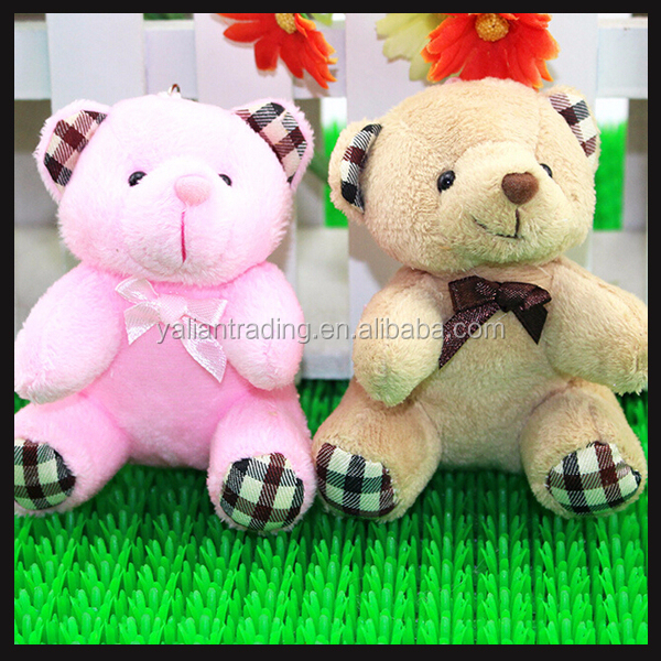 keychain soft toys plush animal toy for small promotion gifts