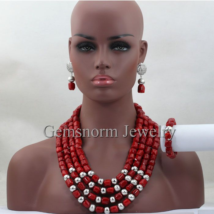 Factory direct cheap price wholesale red coral beads jewellery set for women sliver 925 accessories rings jewelry