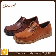 2016 new fashion custom made genuine leather shoes men