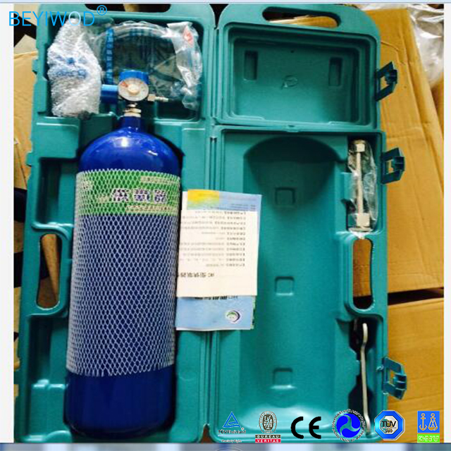 small portable 4L steel cylinder oxygen supply set oxygen cylinder with oxygen supply accessories
