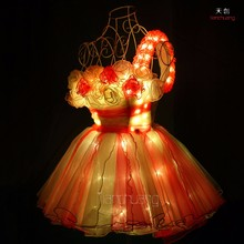Christmas Light Up Party Dress / Carnival Performnce Costumes / Sparkling Festival Show Dresses