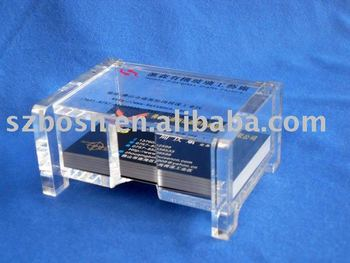 Acrylic Credit Card Holder,Perspex Name Card Box,Plexiglass Name Card Display Stand