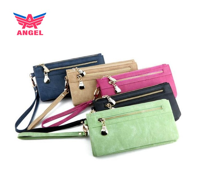 2017 Hot selling new korean vintage clutch wallet latest design ladies purse
