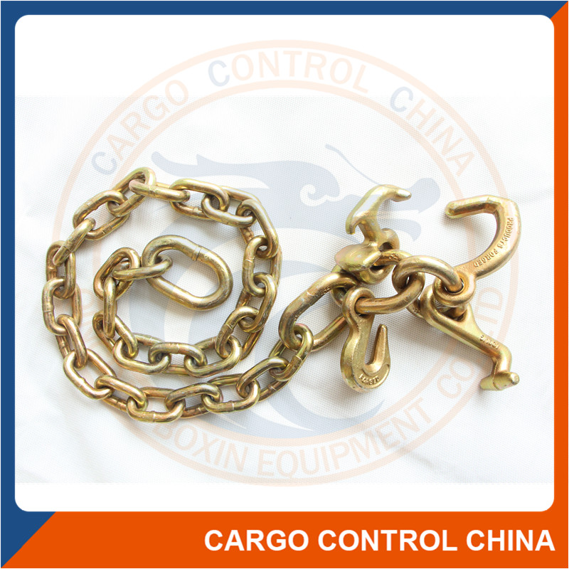 7147 High quality tow bridle chain with RTJ frame cluster hook