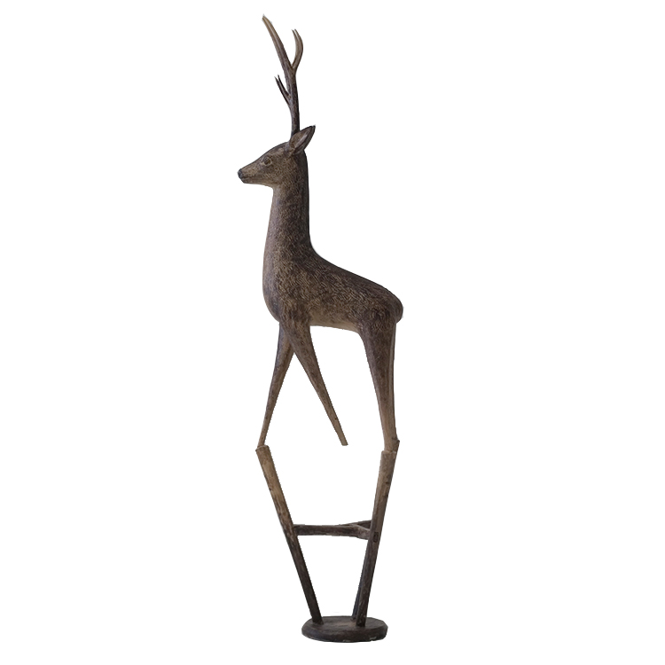 New design small deer sculpture bronze statue for home decoration