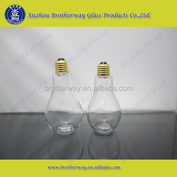 REAL SIZE NOVELTY LIGHT BULB JAR PAPERWEIGHT CRAFT DECOR BOTTLE W/ SCREW ON CAP