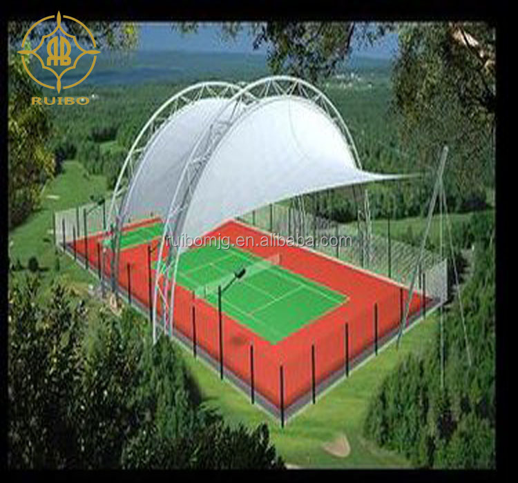 Gymnasium tensile membrane structure tent for sport. PVDF/PTFE/PVC coating