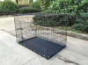6 Sizes Metal Folding Dog cage, Foldable Dog Crate, 2 Doors Easy to Carry