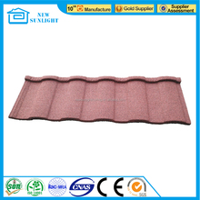 Roman stone coated steel roof tile