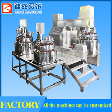 liquid soap vacuum emulsifying mixer with scraper