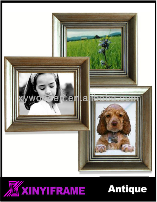 Durable solid wood eco-friendly photo frame antique frame photo