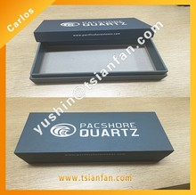 Wholesale High Quality Cardboard Box Customized and logo printed for stone sample display box