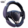 Heated Memory Foam Car Steering Wheel Cover with 6 Grips