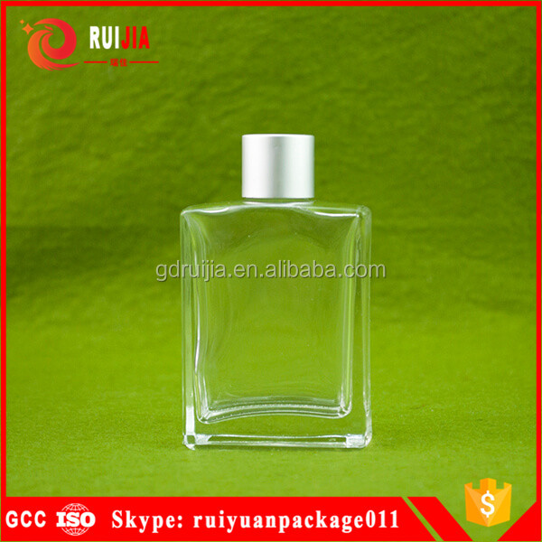 Free samples custom empty clear perfume bottle glass 50 ml