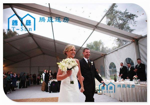 Northern Europe TFS outdoor winter party wedding decoration for very cold weather can loading strong snowstorm