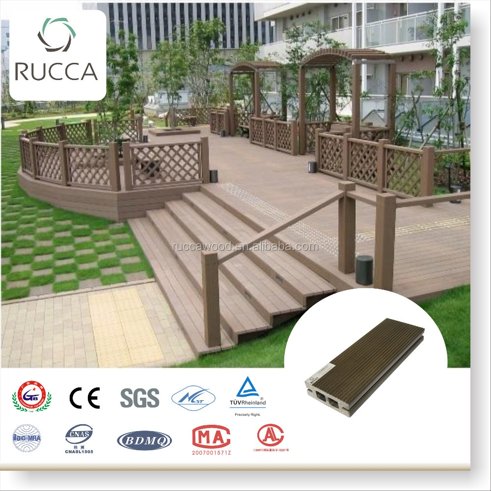 2016 WPC Wood Antiseptic decking flooring 70*25mm new technology home garden depot China building materials supplier