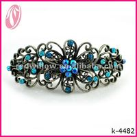 Manufacture wholesale plain metal diamante butterfly vintage hair clips