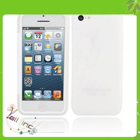 TPU Protective Case for iPhone 5C with Transparent Surface Cover Creamy White