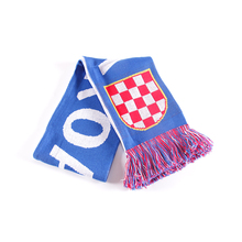 China factory supply custom make knit Croatia club team football fan scarf