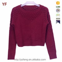 Latest Sweater Designs for Young Women Acrylic Sweater Pullovers