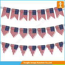 Wholesale high quality customized polyester fabric bunting flag