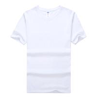 Advertising custom t shirt 100% cotton fabric t-shirt white t-shirt printing