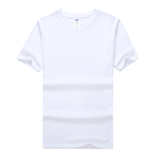 Advertising custom t shirt 100% cotton fabric t-shirt white t-shirt printing