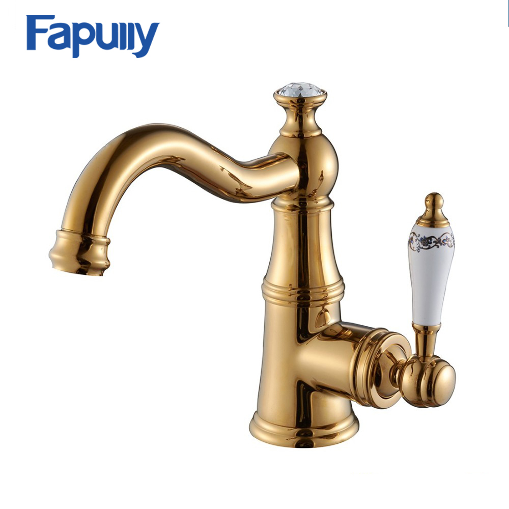 Fapully New Popular Antique Wash Gold Basin Faucet