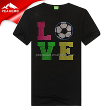 Wholesale Love Soccer Hot Fix Neo Rhinestuds Motif
