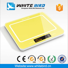 Rectangle glass electric kitchen food scale with backlight and temperature