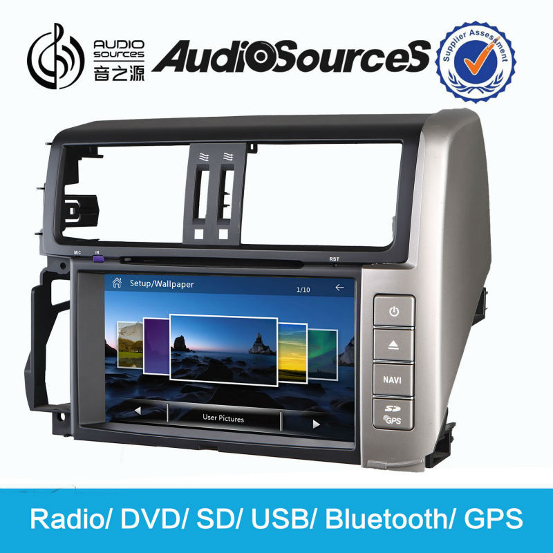 touch screen car dvd for Toyota prado 2012 car multimedia with GPS radio bluetooth CD player