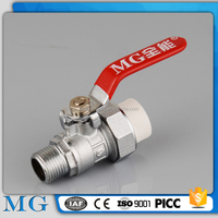 wholesale factory direct sales and superior ppr plastic ball valve 2way ball valve high quality ppr double union