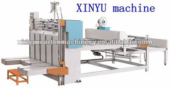 corrugated box gluing and folding machine