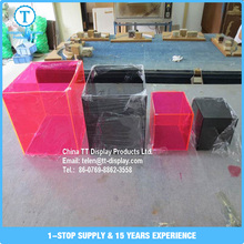 Promotion customize hot sale 18mm thickness acrylic clear ring box