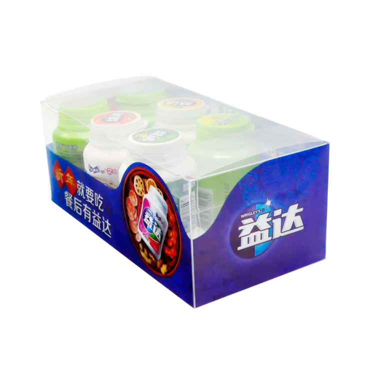 hot sale cheap logo custom printed plastic packaging clear pet box