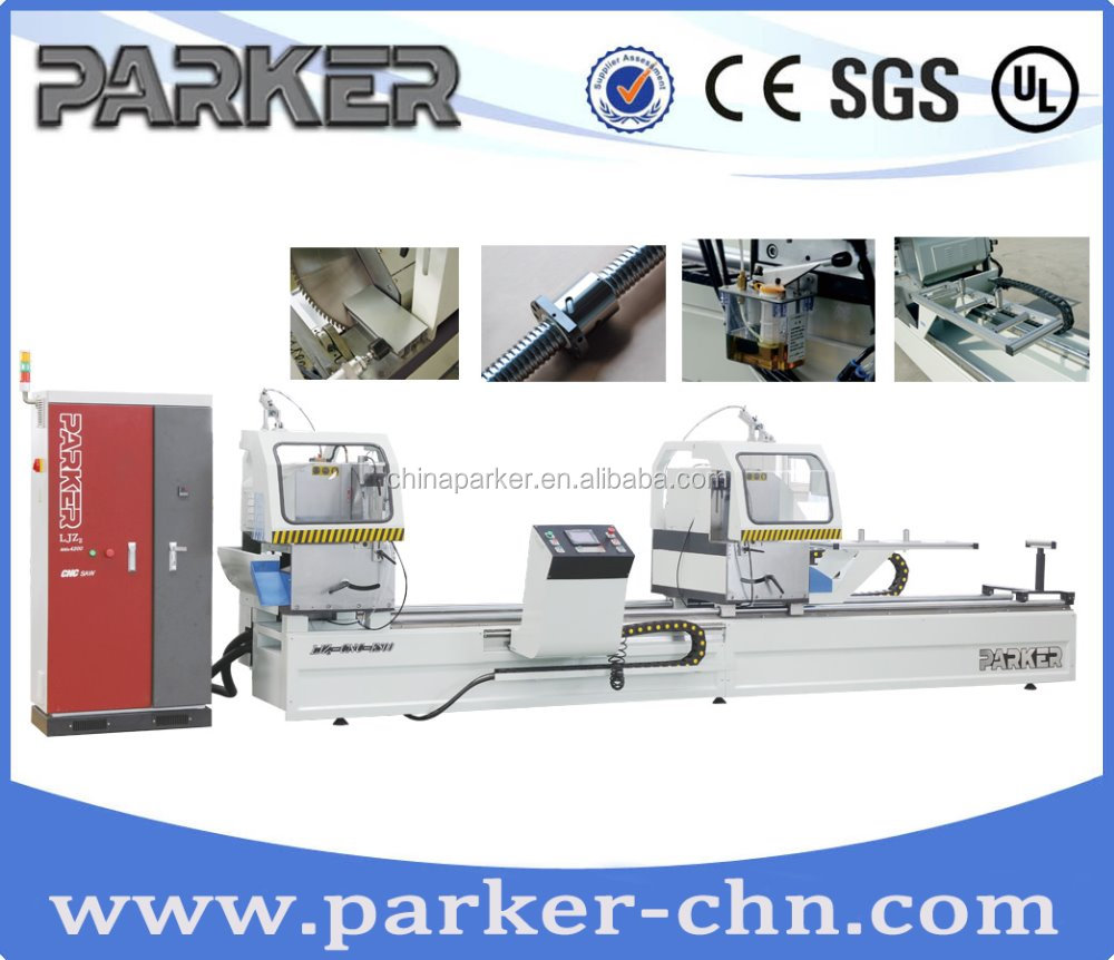 High precision upvc&aluminum profile 45 and 90 angle CNC cutting saw machine/aluminum double mitre saw