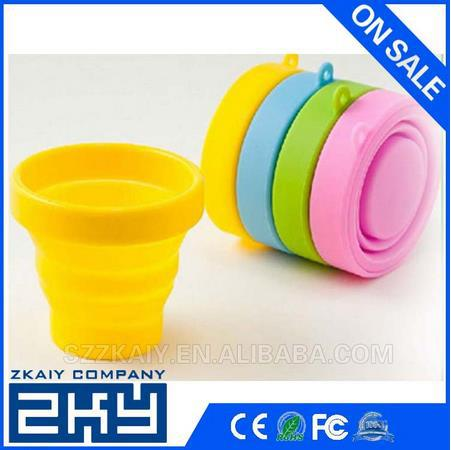 8.5*9cm, 7.2*8cm Outdoor Silicone Collapsible Cup, Plastic Cup