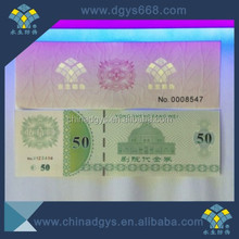 Security uv watermark paper with hologram security thread