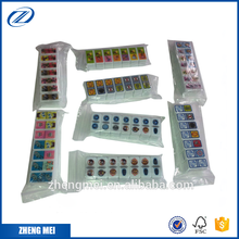 Plastic dominoes game set with custom printing